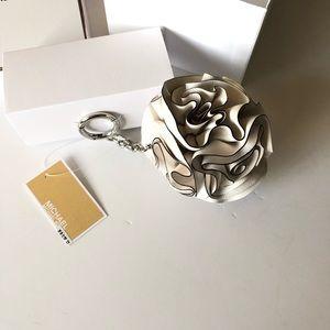 Michael Kors Bags - Micheal Kors Leather Flower Ruffle Pom Charm